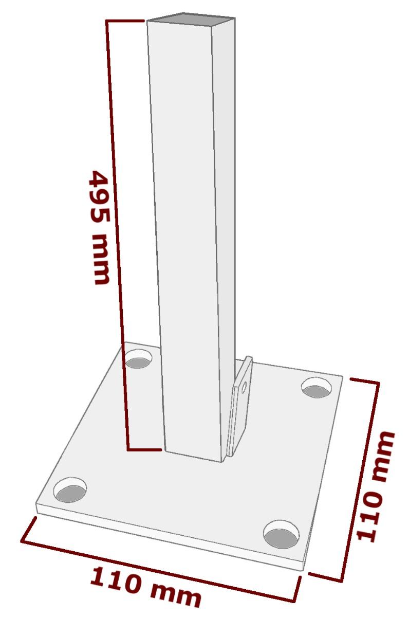 Pfostenträger WPC Sichtschutz SYSTEM