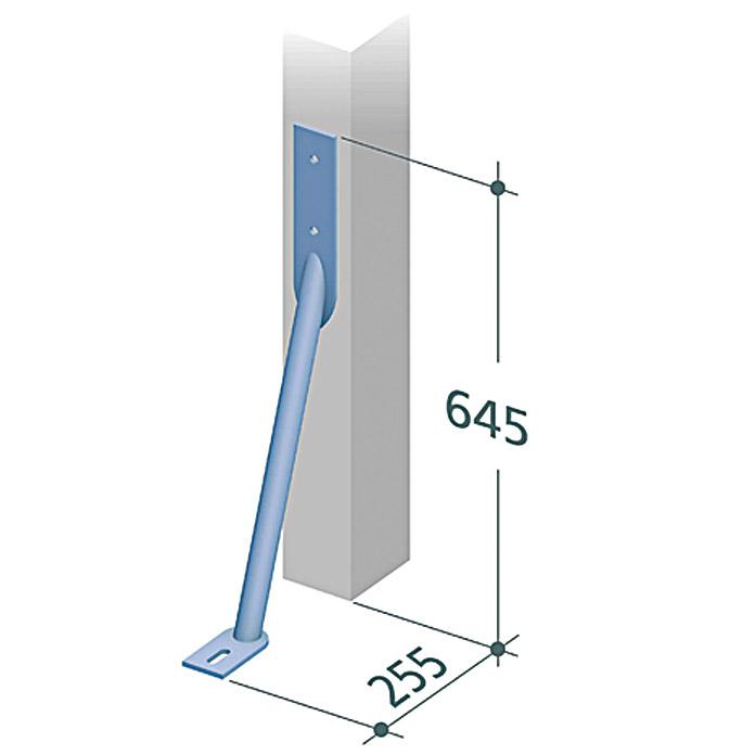 Maße Sturmanker für WPC Sichtschutz
